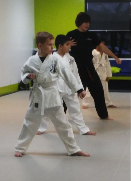 kids learn focus and concentration at the Boca Raton Karate & Kickboxing Academy